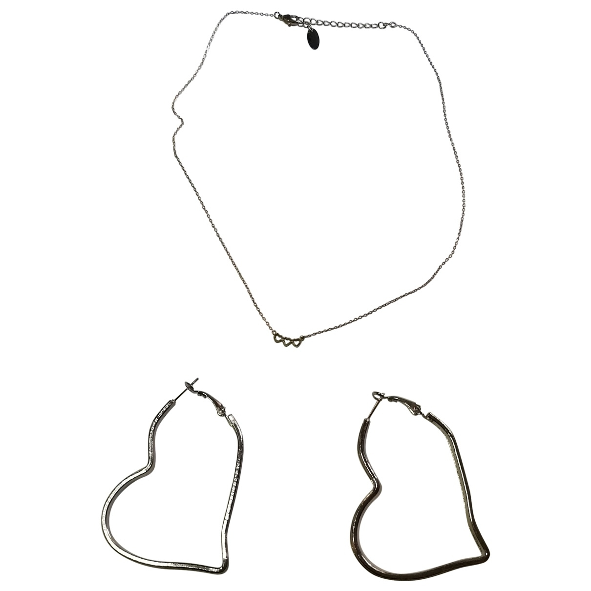 Non Signé / Unsigned Motifs Coeurs Metal Jewellery set for Women \N