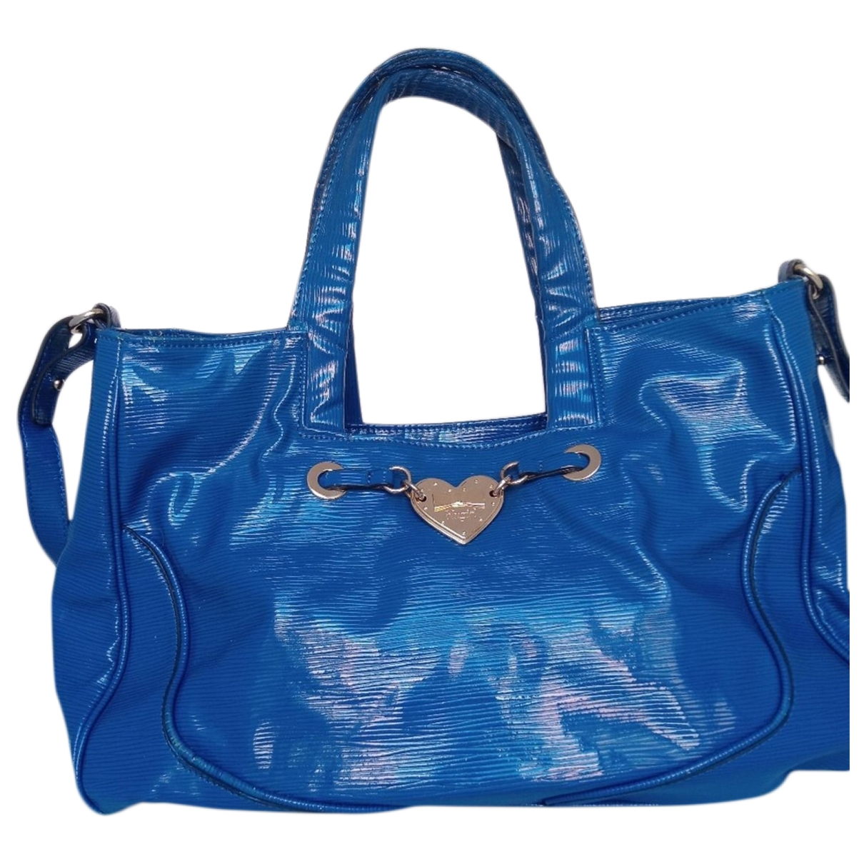 Blumarine \N Blue Patent leather handbag for Women \N