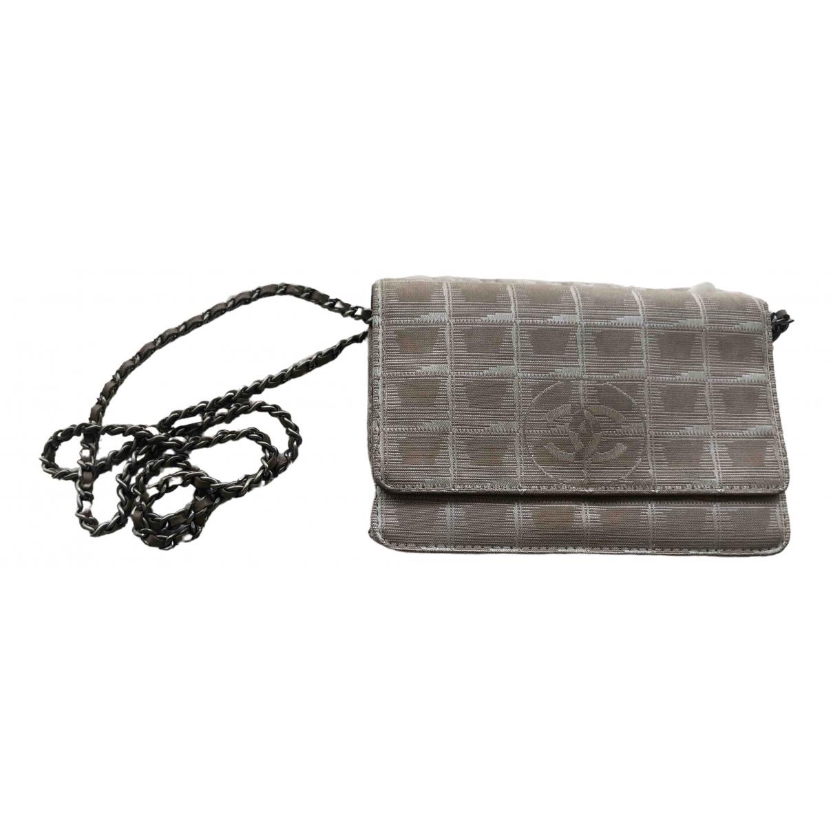 Chanel Wallet on Chain Khaki Cloth handbag for Women \N