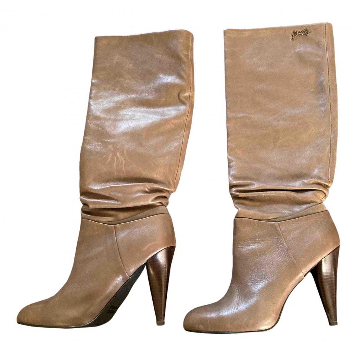 Liu.jo - Bottes   pour femme en cuir - camel