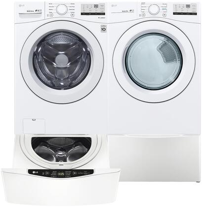 Side by Side Front Load Laundry Pair with WM3400CW 27