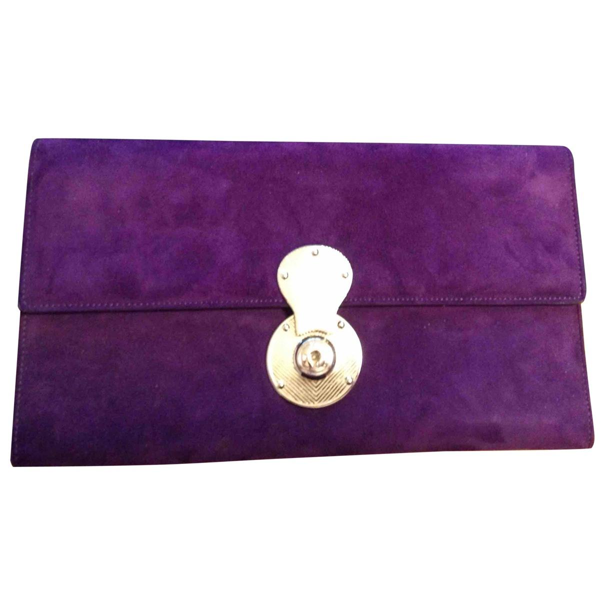 Ralph Lauren Collection - Pochette   pour femme en suede - violet