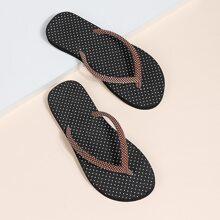 Flip Flops mit Punkten Muster