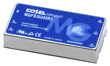 Cosel MGFS 30W Isolated DC-DC Converter PCB Mount, Voltage in 9 → 36 V dc, Voltage out 12V dc