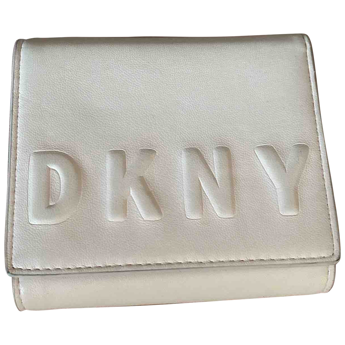 Dkny \N Pink Leather wallet for Women \N
