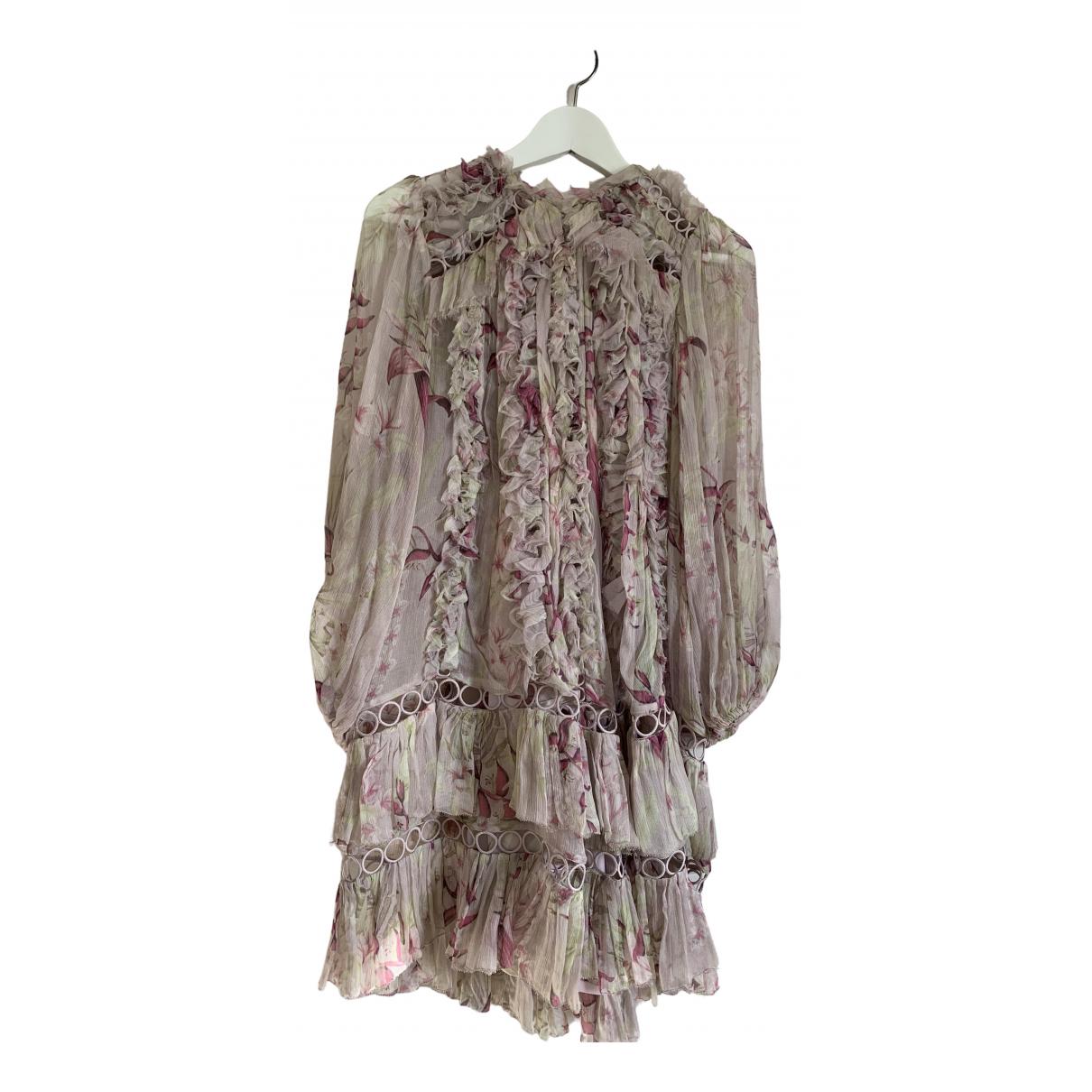 Zimmermann \N Kleid in  Rosa Polyester