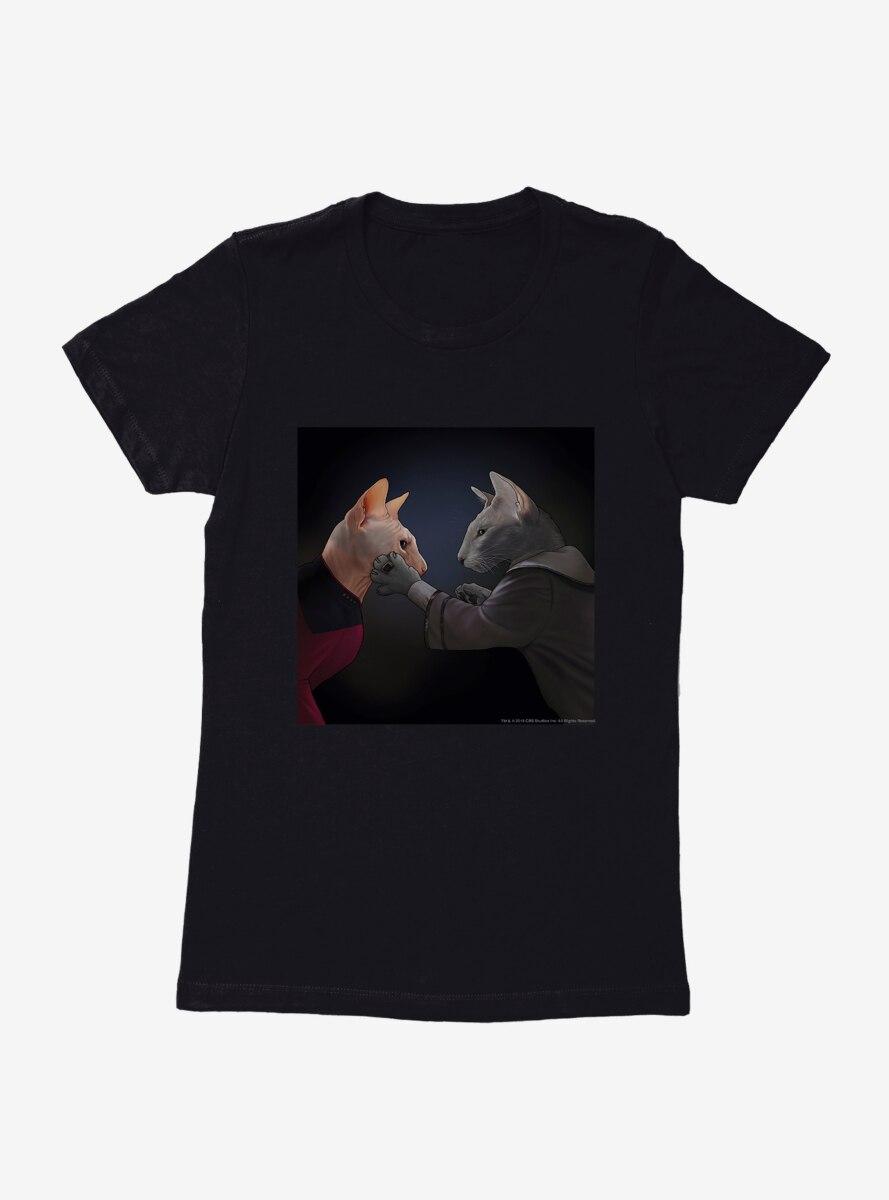 Star Trek The Next Generation Cats Counsel Womens T-Shirt