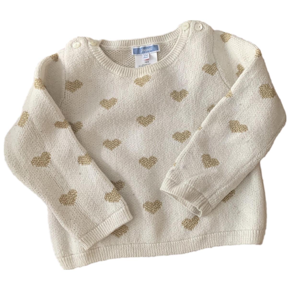 Jacadi - Pull   pour enfant en coton - blanc