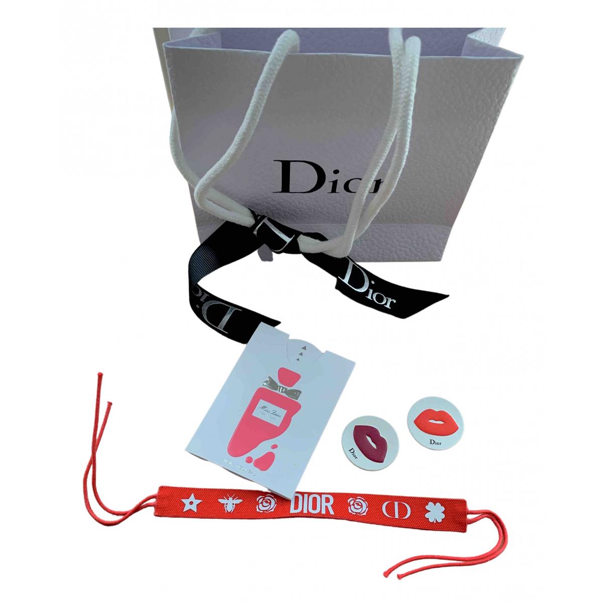Dior - Bracelet   pour femme en toile - rouge