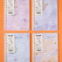 1 Stueck Notizbuch mit zufaelligem Raum Muster
