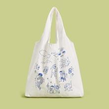 Figure Graphic Canvas Tote Bag