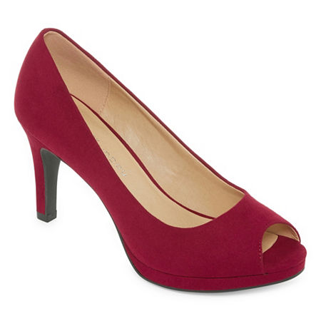 CL by Laundry Womens Nakia Pumps Stiletto Heel, 11 Medium, Red
