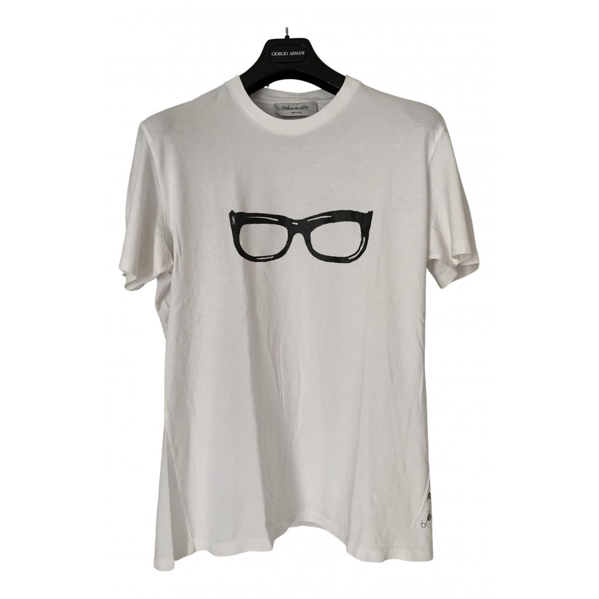 Yves Saint Laurent \N White Cotton T-shirts for Men L International