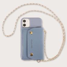 1 Stueck iPhone Etui mit Geldborse und Kette Detail