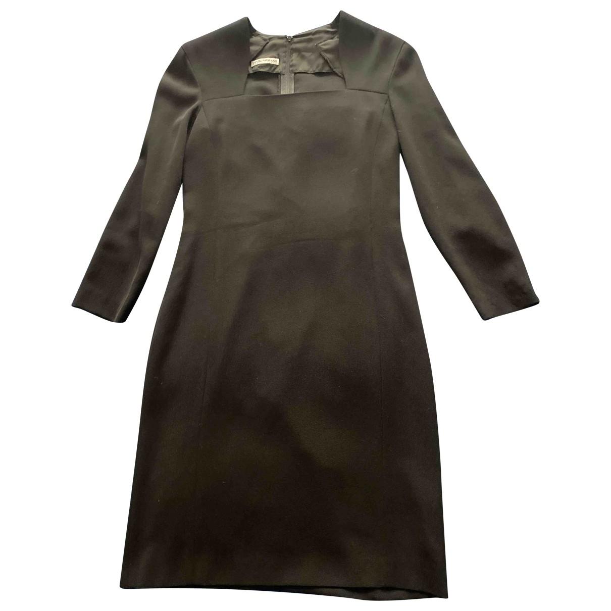 Emporio Armani \N Black Wool dress for Women 42 IT