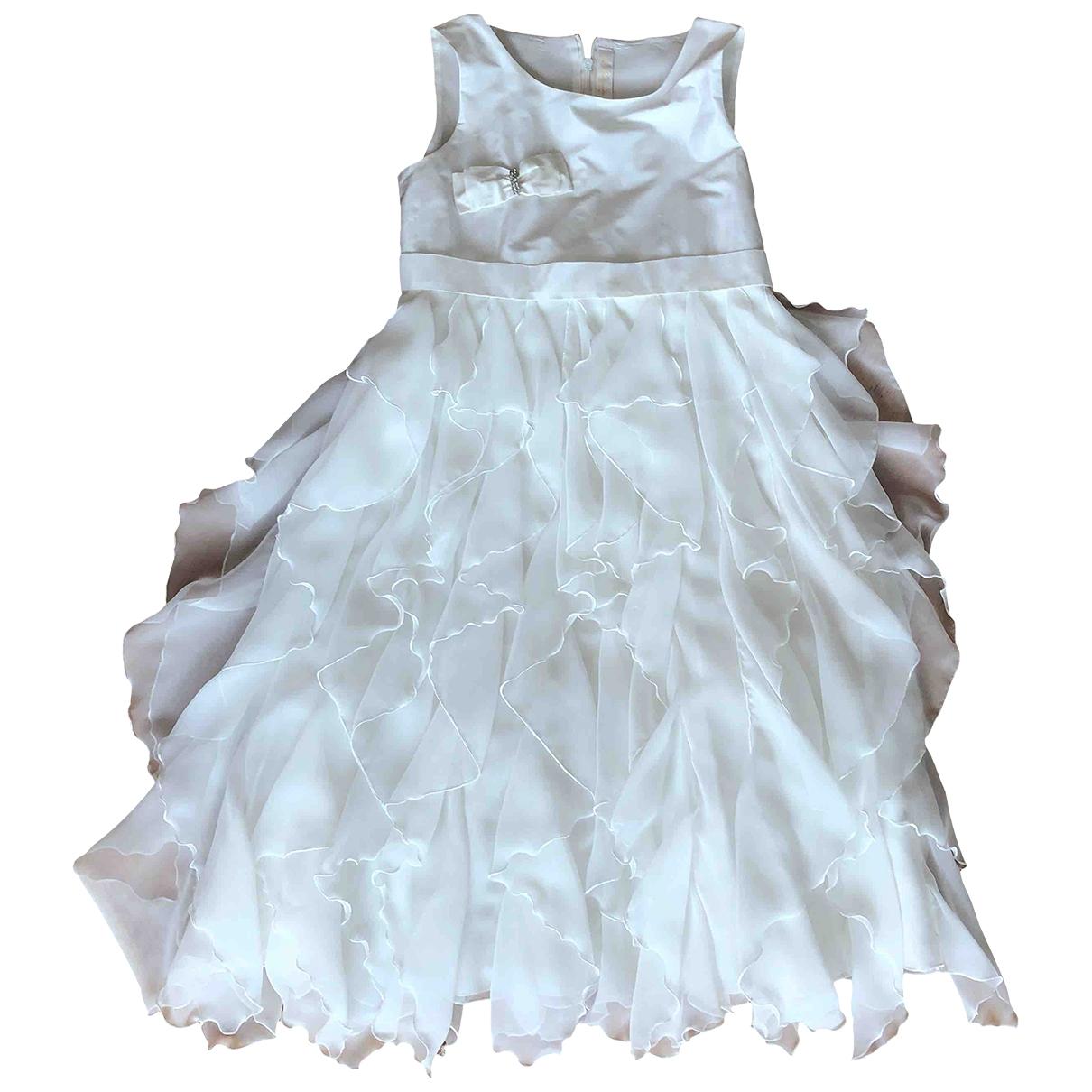Le Bebe \N Kleid in  Weiss Viskose
