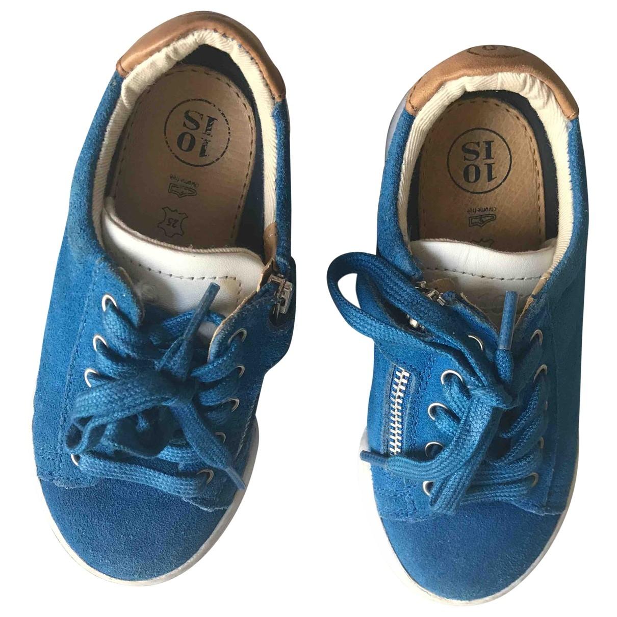 10 Is - Baskets   pour enfant en suede - bleu