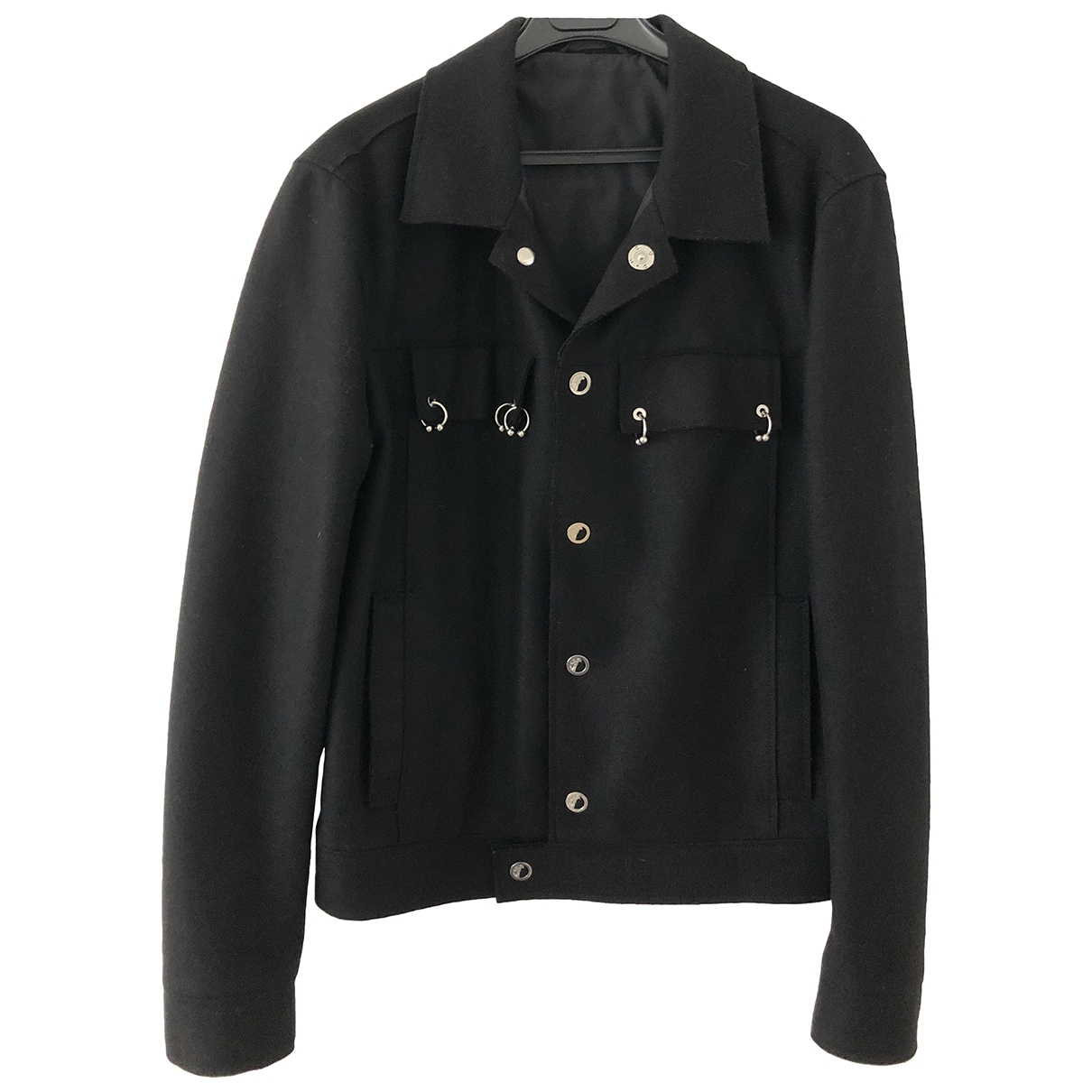 Versace \N Jacke in  Schwarz Wolle