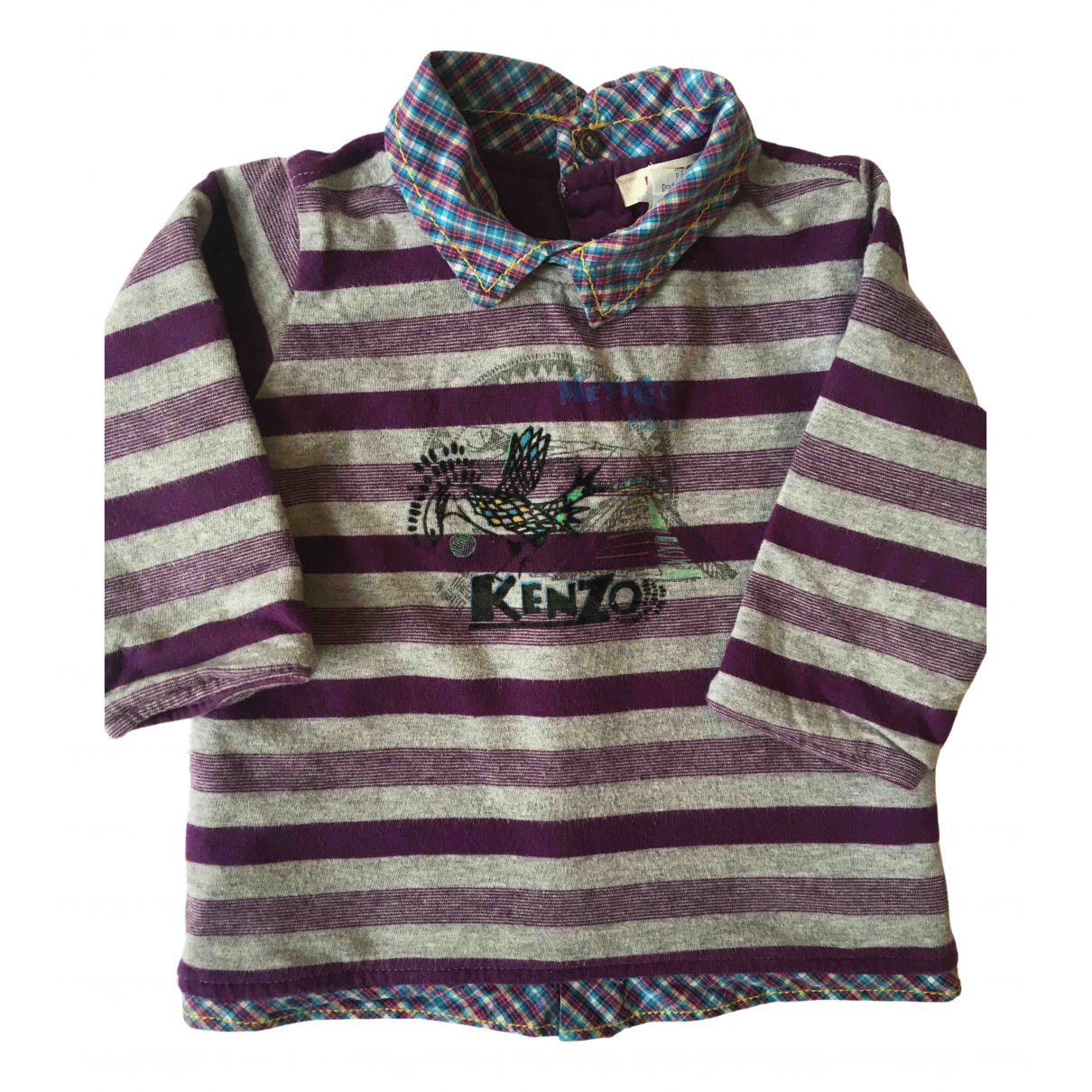 Kenzo N Purple Cotton  top for Kids 12 months - up to 74cm FR