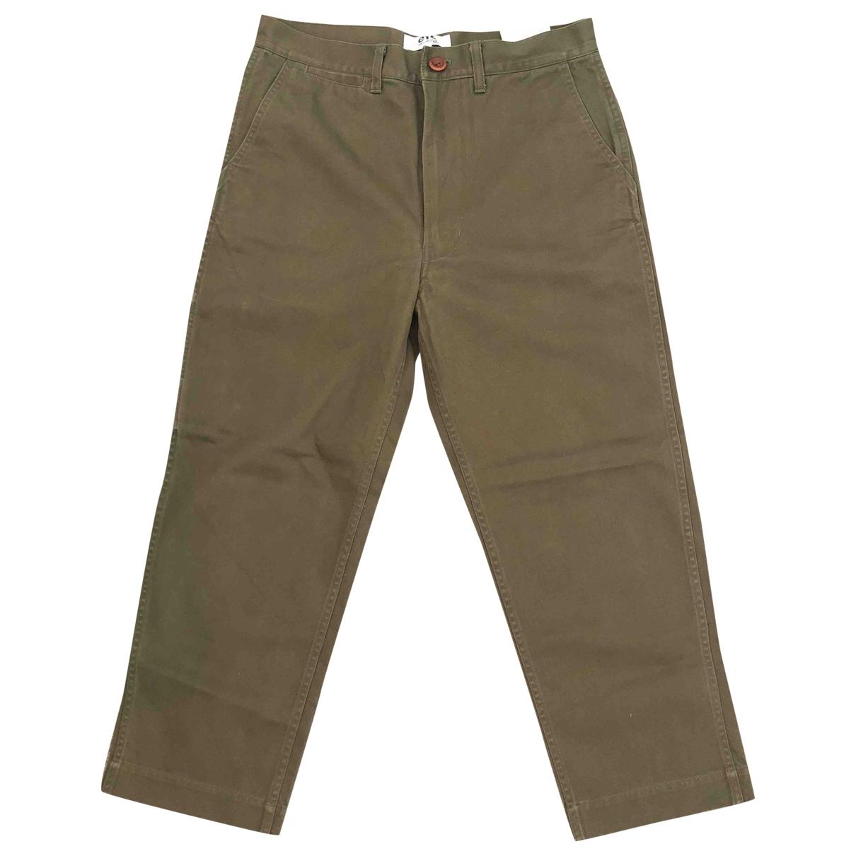 Pantalones en Algodon Caqui Junya Watanabe