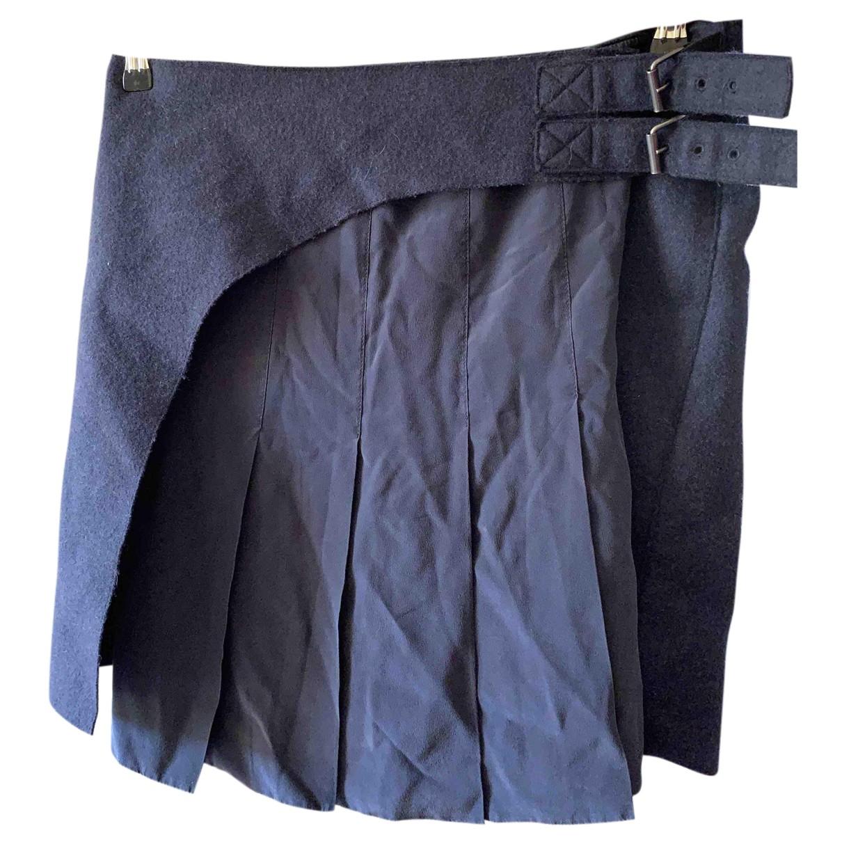 Joseph - Jupe   pour femme en laine - bleu