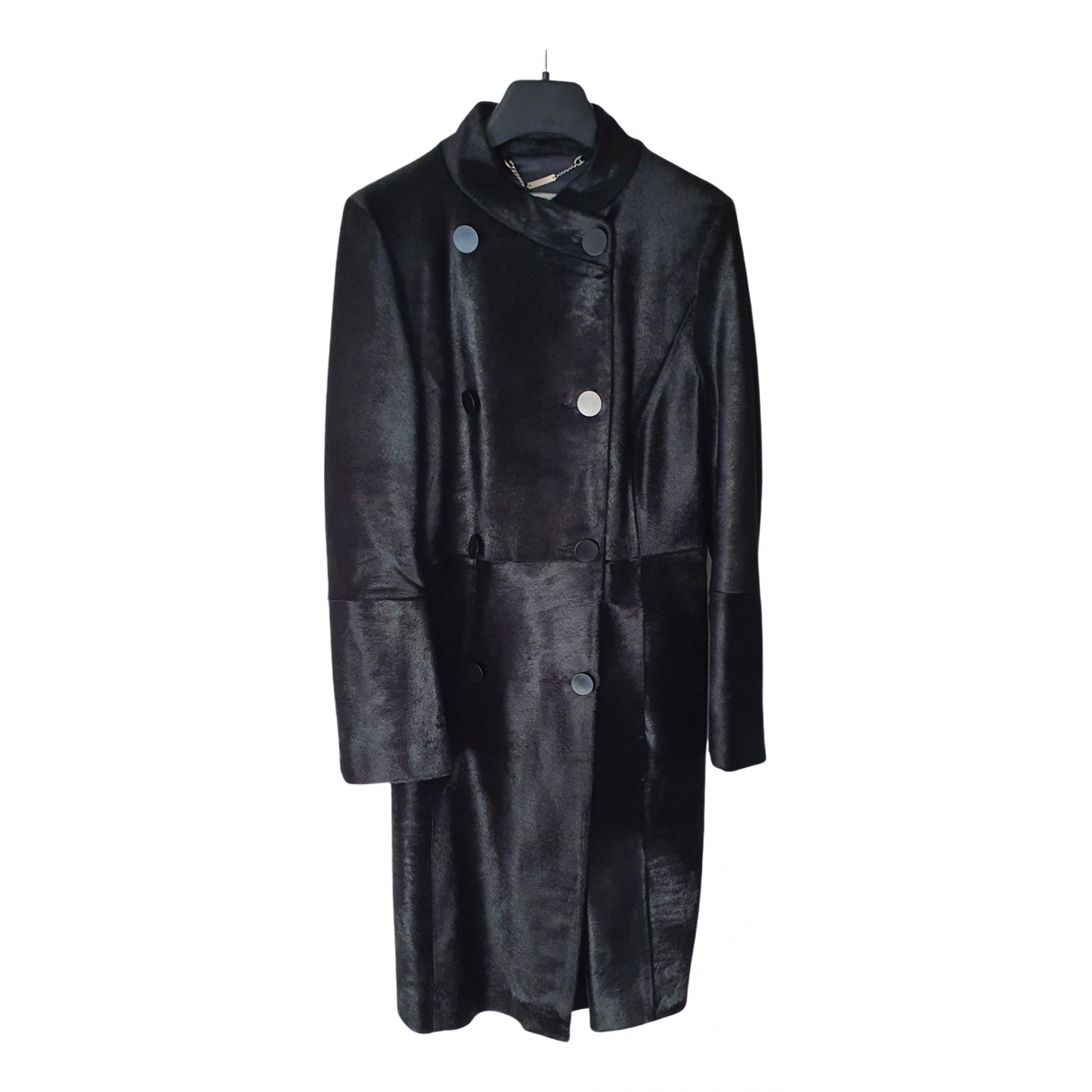 Jaeger London - Manteau   pour femme en fourrure - noir