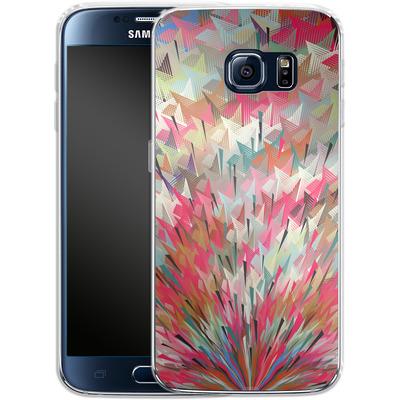Samsung Galaxy S6 Silikon Handyhuelle - Black Pigment Explosion von Danny Ivan