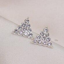 Triangle Decor Stud Earrings