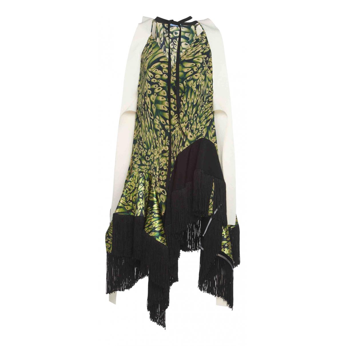 Mugler \N Kleid in  Gruen Viskose