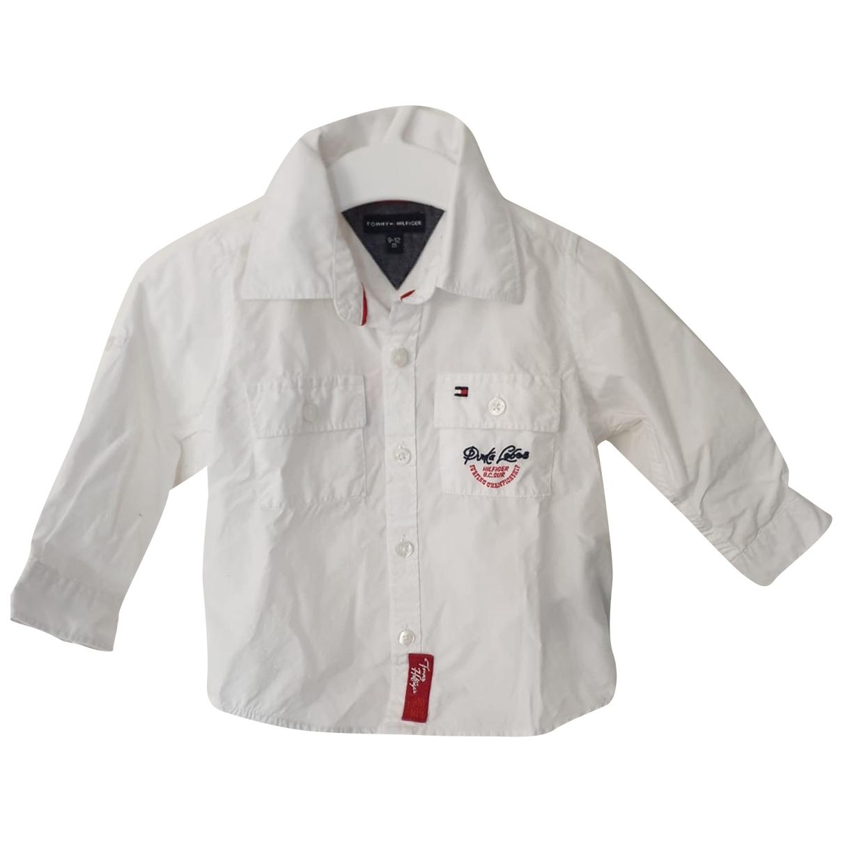 Tommy Hilfiger - Top   pour enfant en coton - blanc
