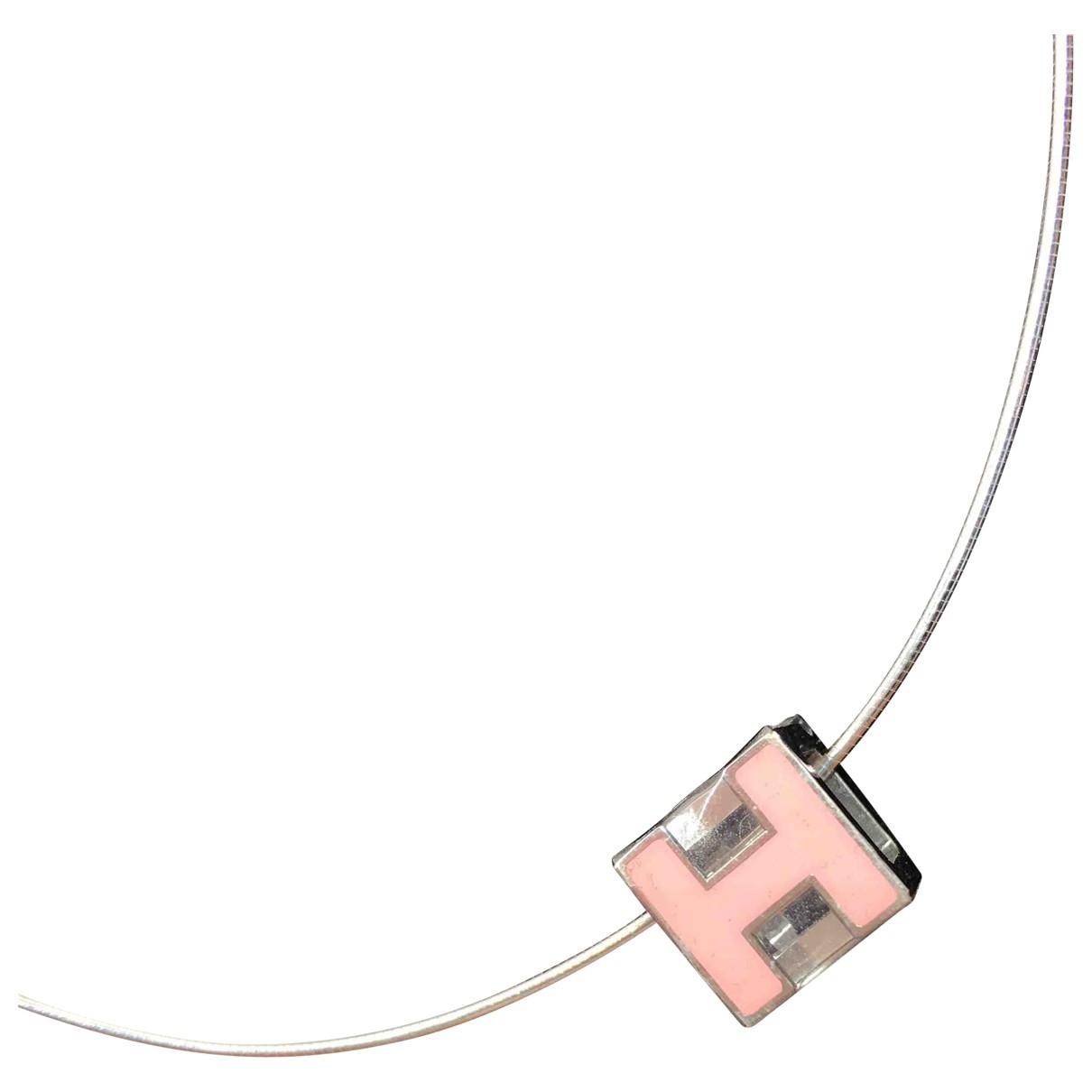 Hermes - Collier Cage dH pour femme en metal - argente