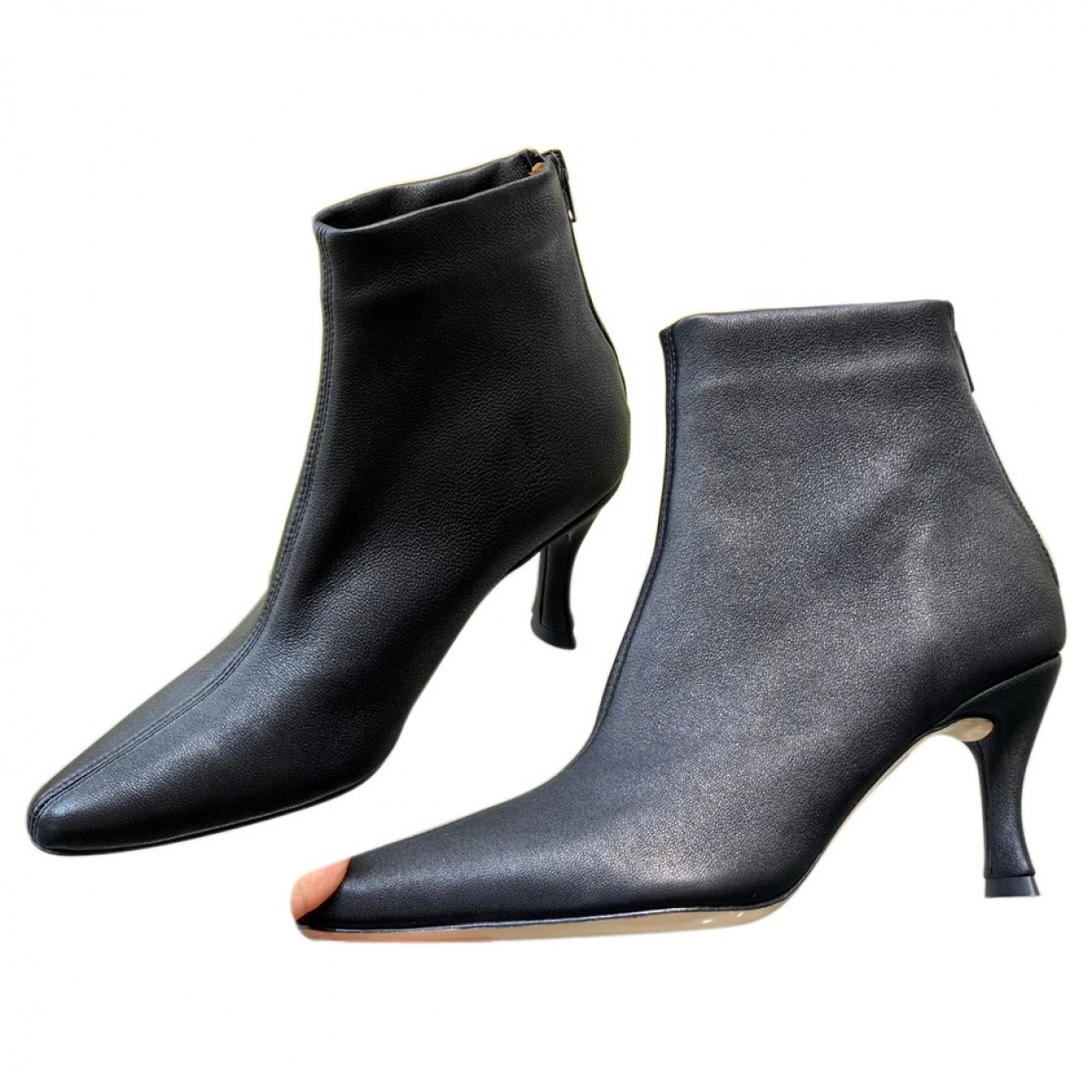 By Far \N Black Leather Boots for Women 37 EU