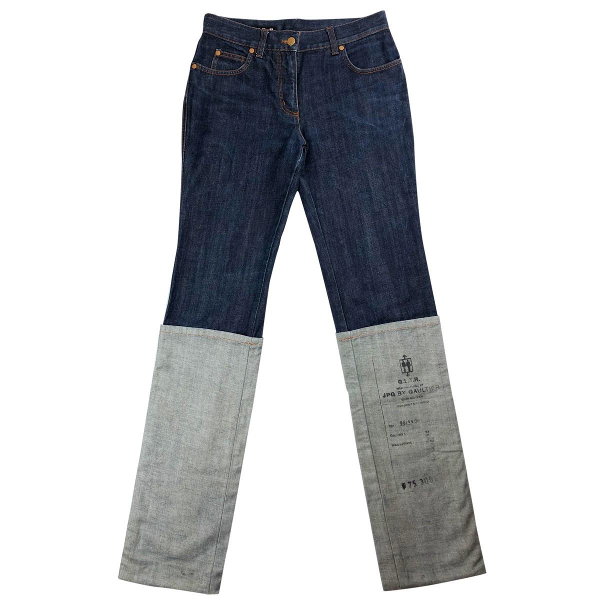 Jean Paul Gaultier \N Navy Denim - Jeans Jeans for Women 28 US
