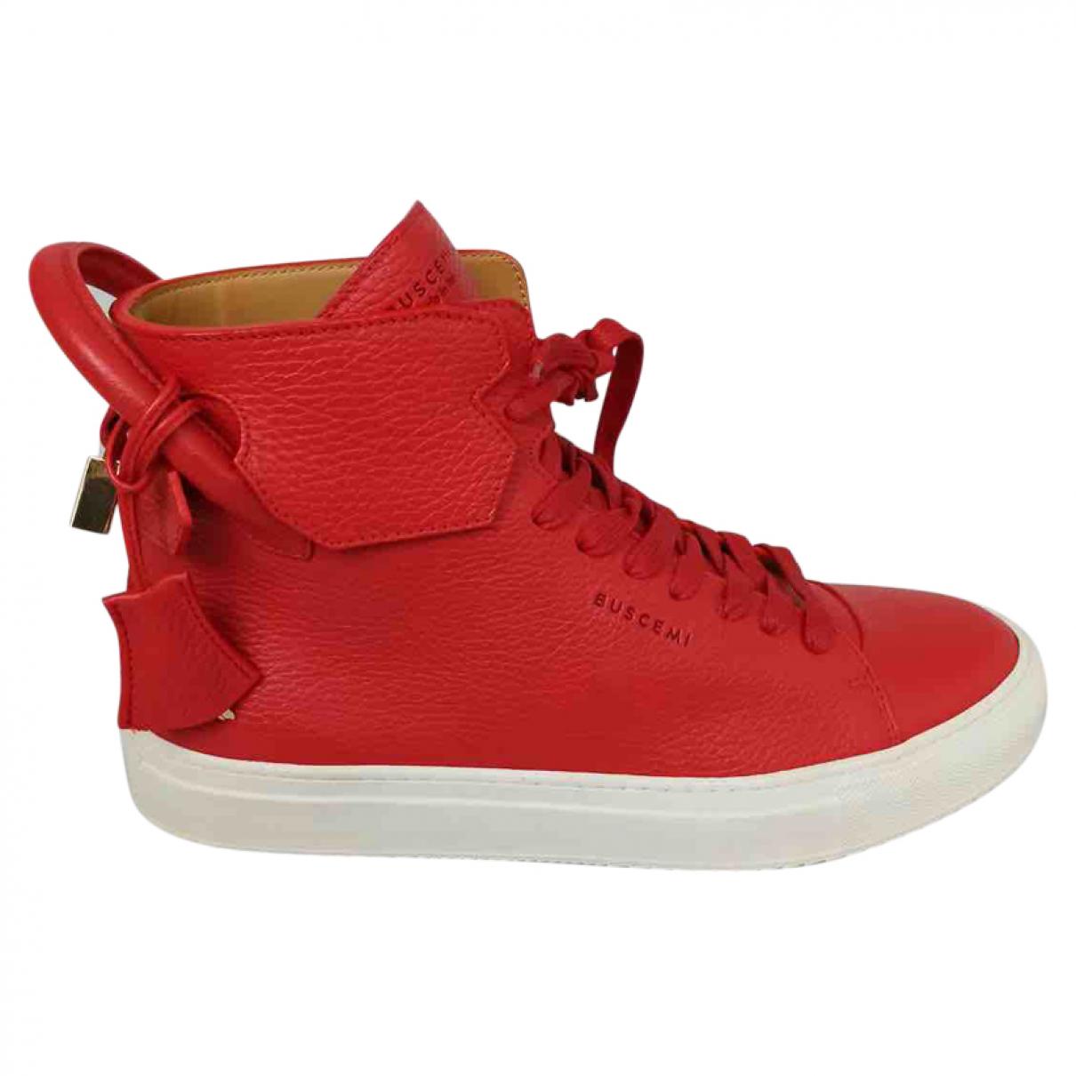 Buscemi \N Sneakers in  Rot Leder