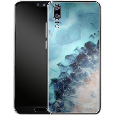 Huawei P20 Silikon Handyhuelle - Ocean Agate von Emanuela Carratoni