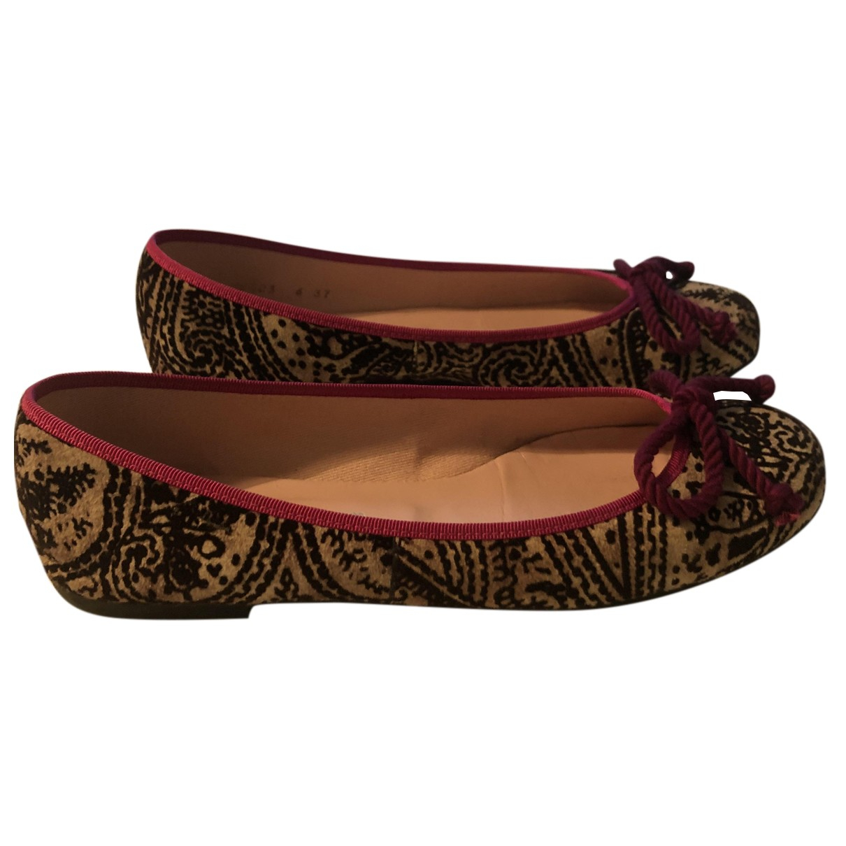 Pretty Ballerinas N Multicolour Velvet Ballet flats for Women 37 EU