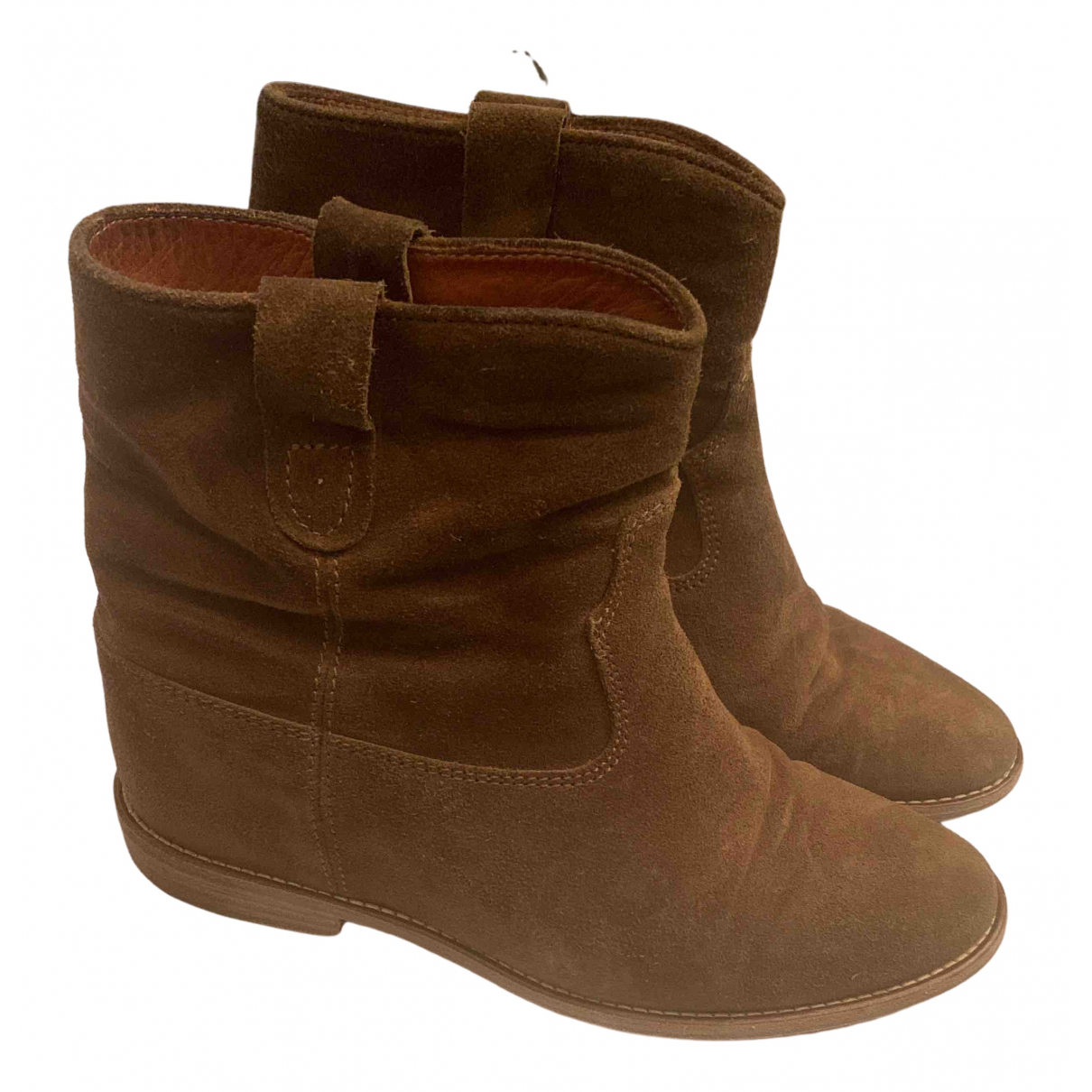 Isabel Marant N Camel Suede Ankle boots for Women 38 EU