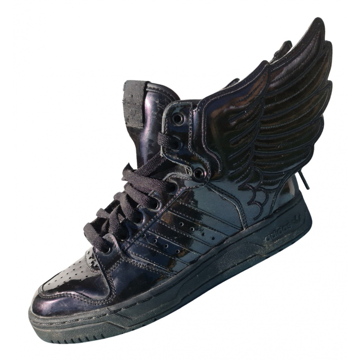 Jeremy Scott Pour Adidas \N Sneakers in  Schwarz Lackleder