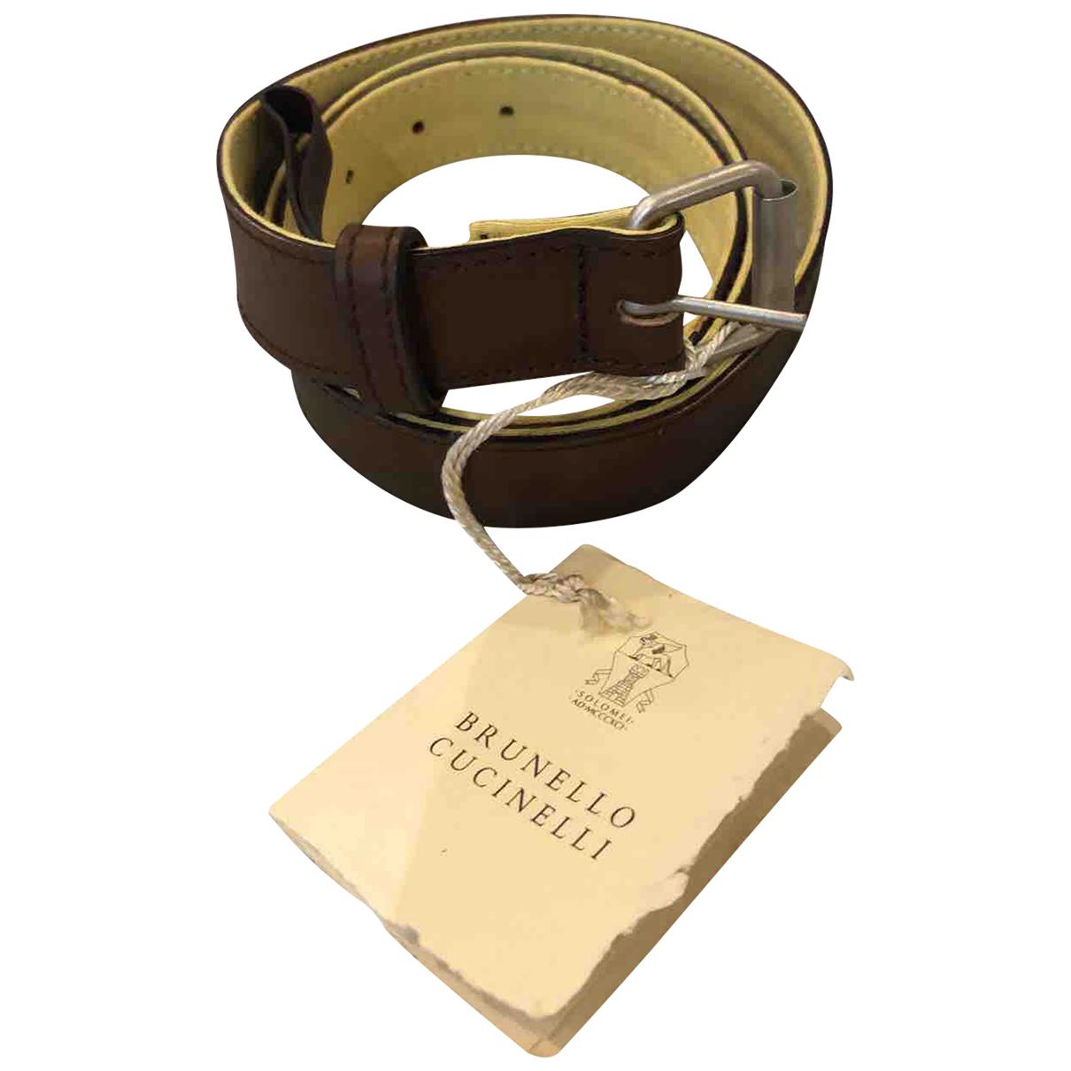 Cinturon de Cuero Brunello Cucinelli