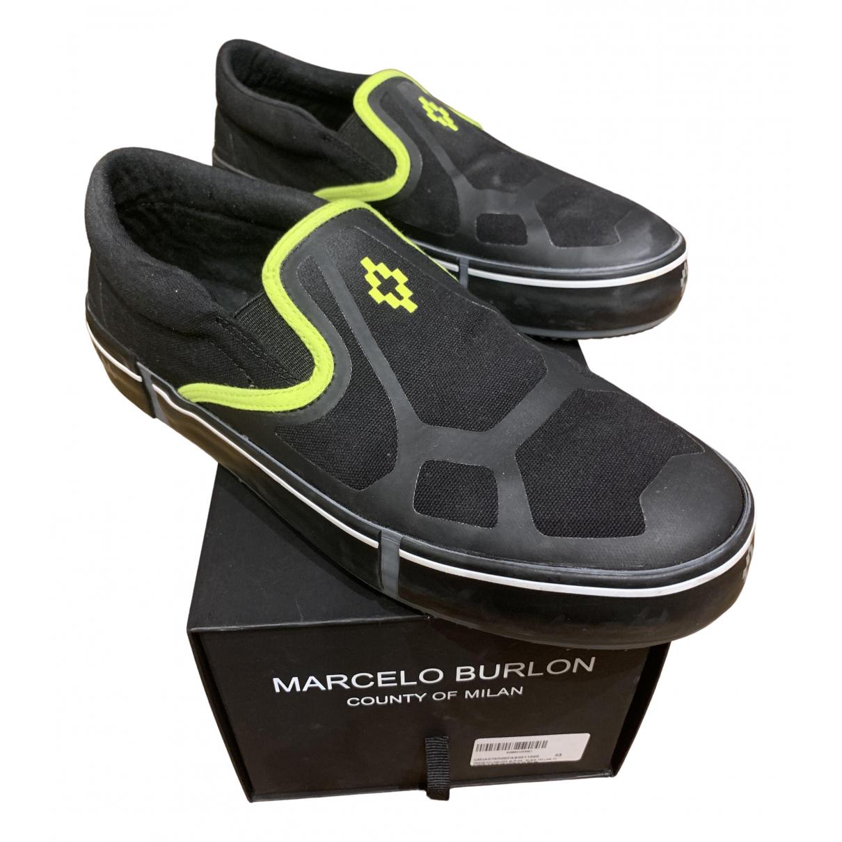 Marcelo Burlon \N Sneakers in  Schwarz Leinen