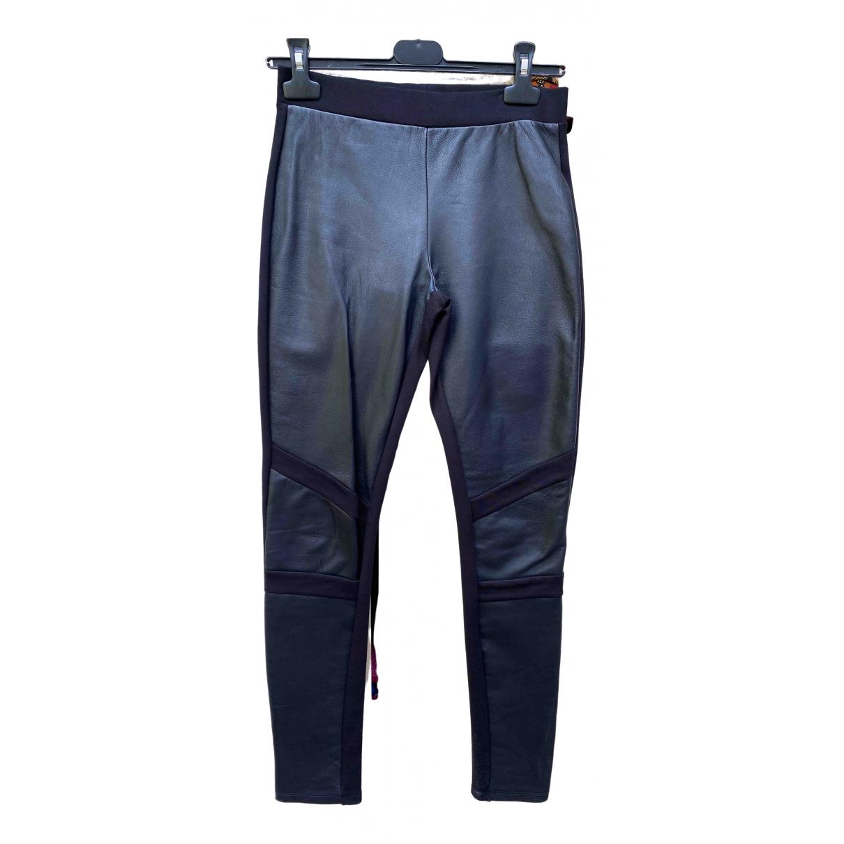 Zapa \N Black Leather Trousers for Women XS International