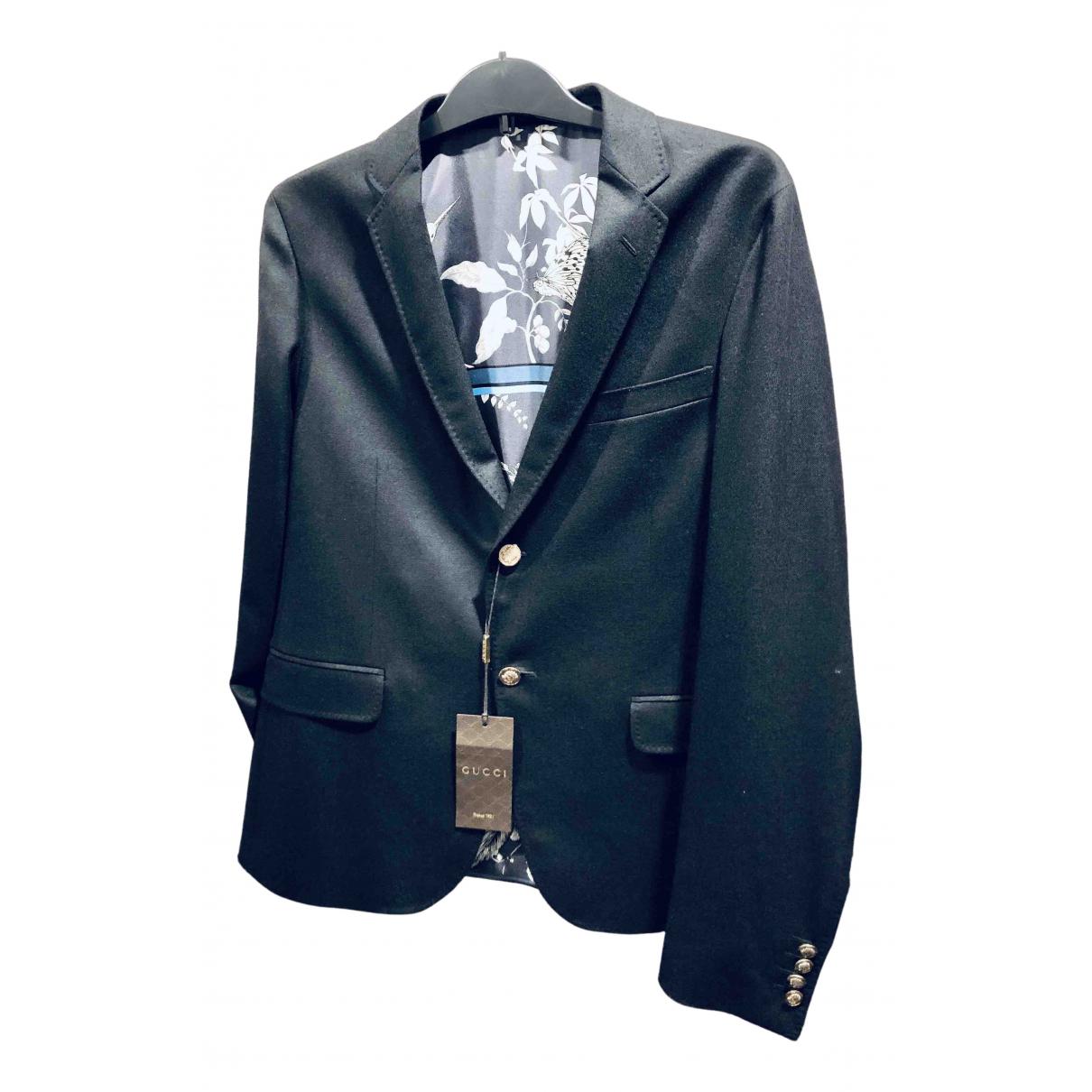 Gucci N Black Wool jacket  for Men 50 IT