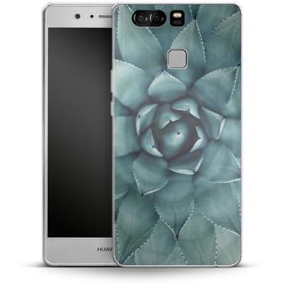 Huawei P9 Silikon Handyhuelle - Beautiful Succulent von caseable Designs