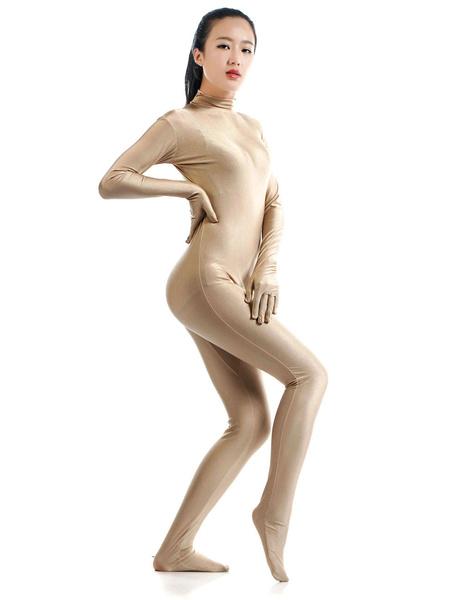 Milanoo Disfraz Halloween Desnudas Lycra Spandex Zentai traje para las mujeres Halloween