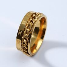 Guys Chain Decor Ring