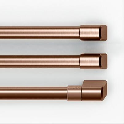 Brushed Copper 3 Handle Kit for French Door