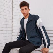 Guys Color Block Zipper Front Jacket