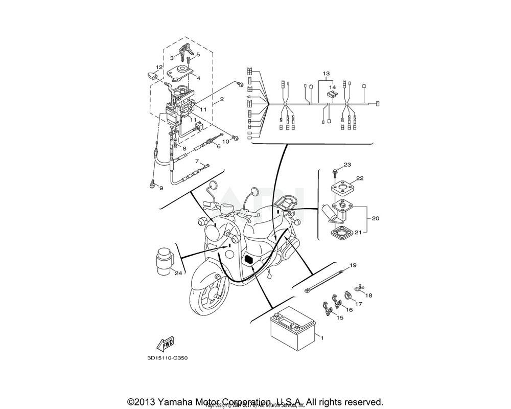 Yamaha OEM 5ST-F831B-00-00 CASE, UNIT 1