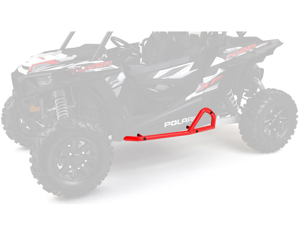 Polaris OEM 2881586-293 Extreme Kick Out Steel Rock Sliders- Indy Red