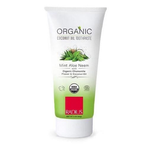 Organic Toothpaste Mint Aloe Neem 3Oz by Radius Toothbrushes